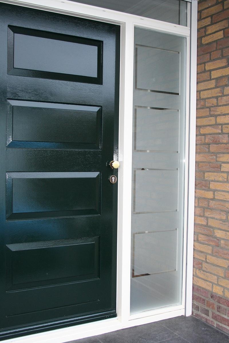 Keuken Deur Folie : Front Door Frosted Window Film
